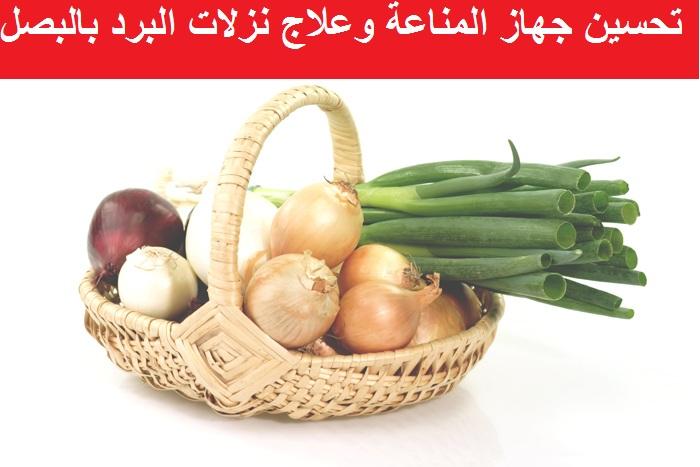 فوائد البصل في علاج نزلات البرد