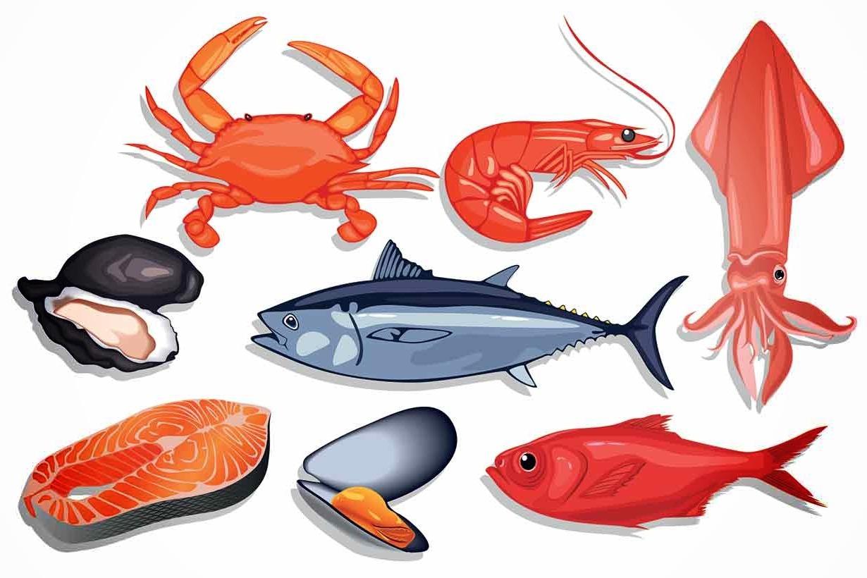 اطعمة بحرية منخفضة الكربوهيدرات