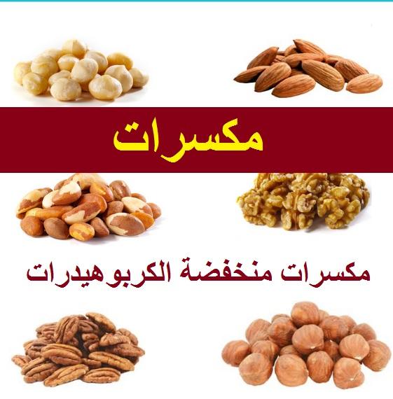 اطعمة منخفضة الكربوهيدرات من المكسرات