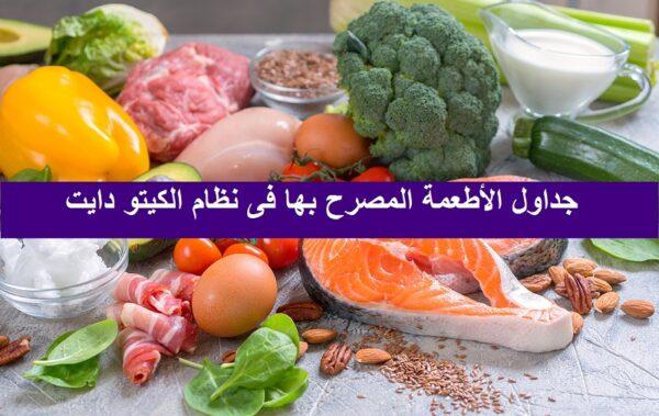 الأغذية المسموح بها فى نظام الكيتو