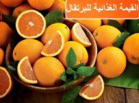 القيمة الغذائية للبرتقال – سعرات البرتقال و بعض فوائد البرتقال