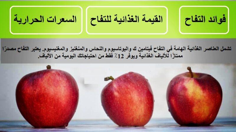 القيمة الغذائية للتفاح – السعرات الحرارية في التفاح