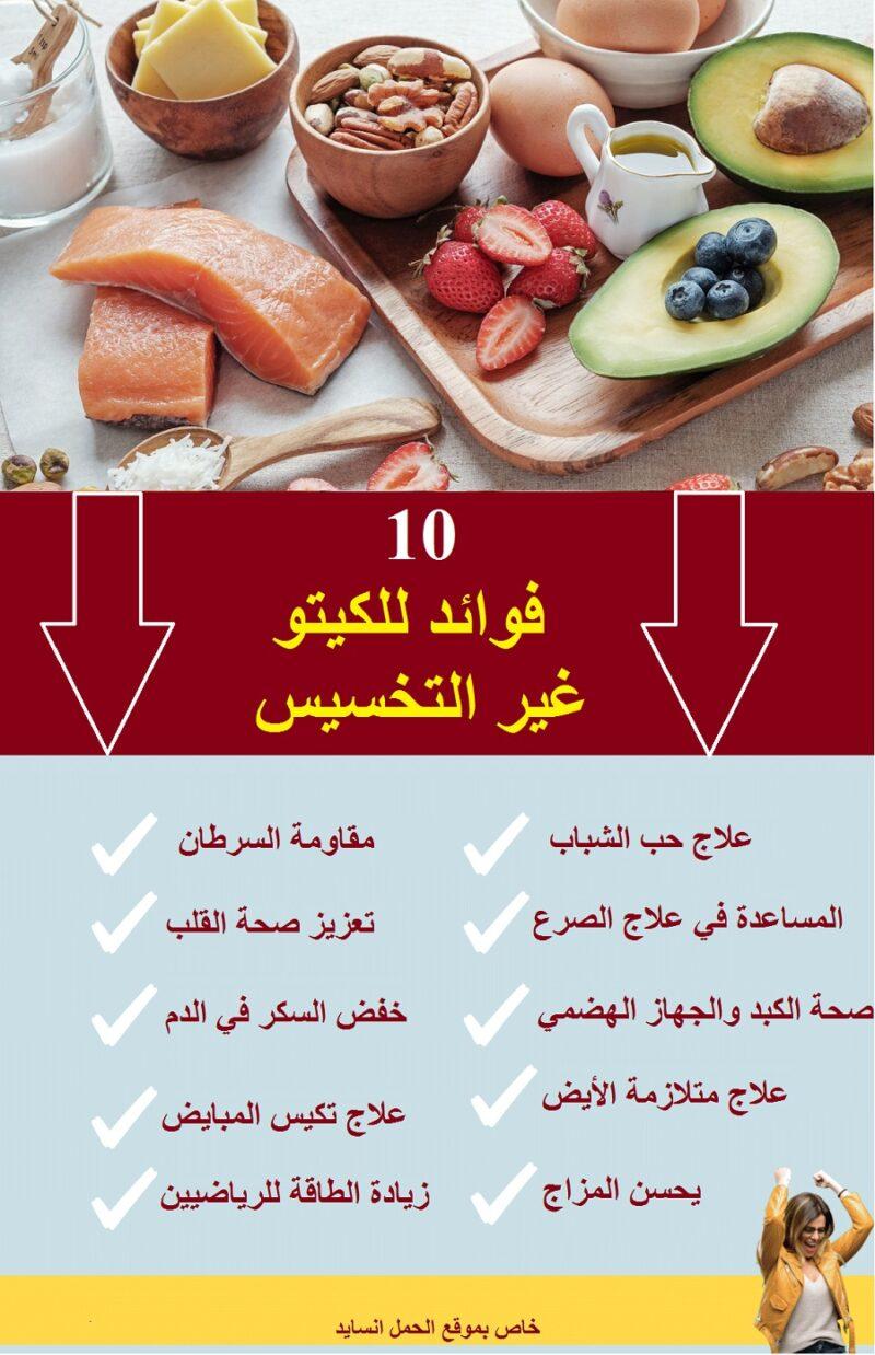 فوائد الكيتو للجسم