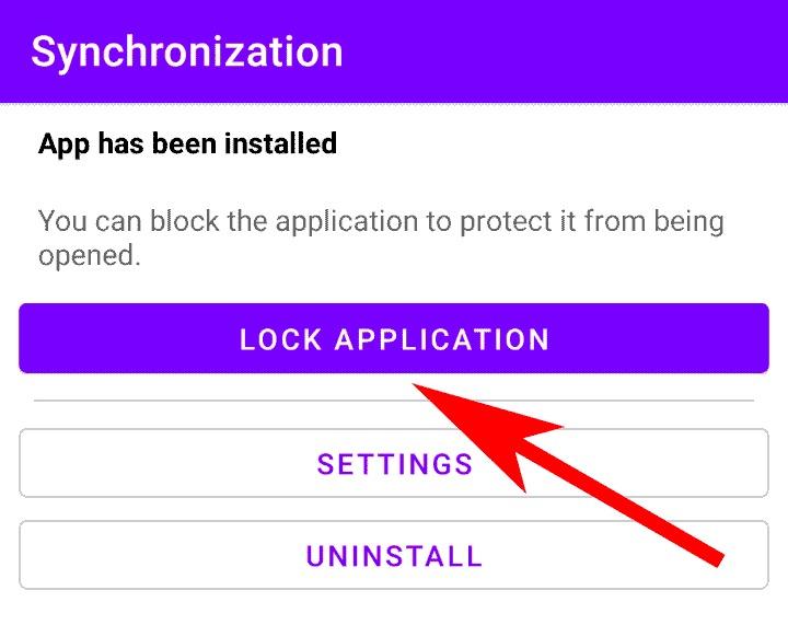 اغلاق البرنامج لكي لا يستطيع صاحب الهاتف فتحه