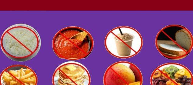 الأطعمة الممنوعة لمرضي السكري